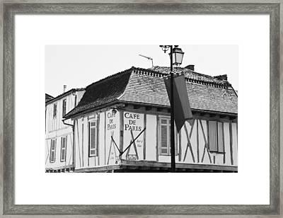 Cafe De Paris Framed Print by Georgia Fowler