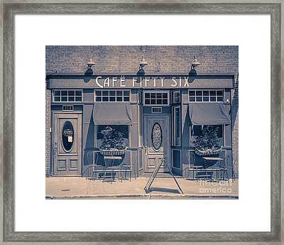 Cafe Fifty Six Middletown Connecticut Framed Print by Edward Fielding