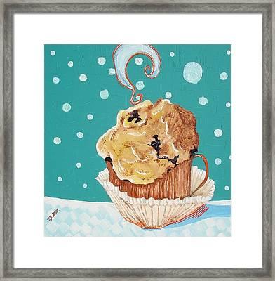 Cafe Java And Muffin  Framed Print by Lisa Kramer