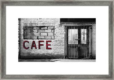 Cafe Framed Print by Mark Rogan