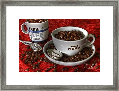 Cafe Nero Framed Print by Tracy  Hall