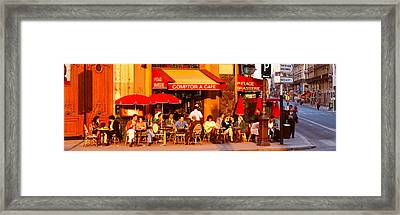 Cafe, Paris, France Framed Print by Panoramic Images