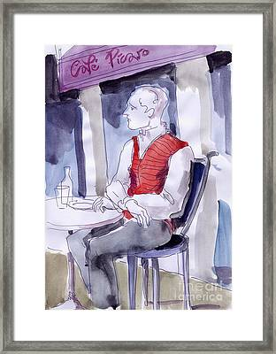 Cafe Picaro Framed Print by Line Arion