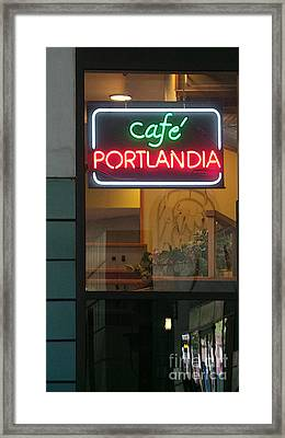 Cafe Portlandia Framed Print by David Bearden