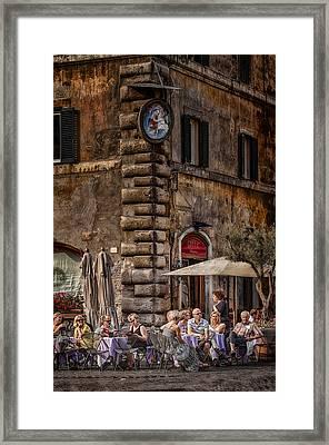 Cafe Roma Framed Print by Erik Brede