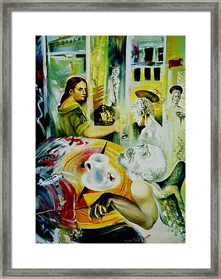Cafe Salome Framed Print by Nekoda  Singer