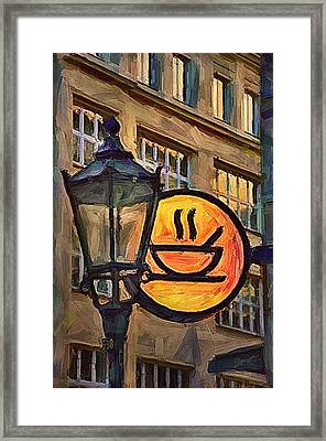 Cafe Sign Framed Print by Gynt
