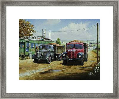 Cafe Society. Framed Print by Mike  Jeffries