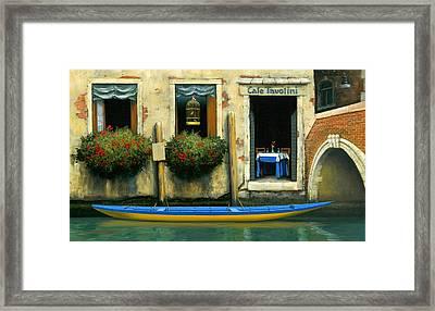 Cafe Tavolini Framed Print by Michael Swanson