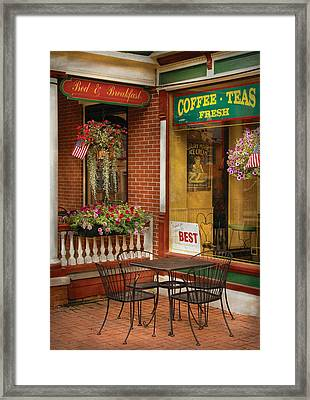 Cafe - The Best Ice Cream In Lancaster Framed Print by Mike Savad