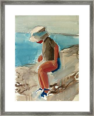 Cagnes Study Framed Print by Daniel Clarke