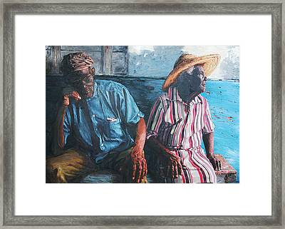 Caicos Time Framed Print by John Matthew