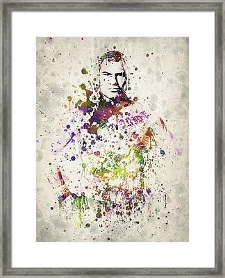 Cain Velasquez Framed Print by Aged Pixel