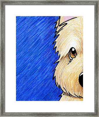 Cairn Terrier Up Close Framed Print by Kim Niles