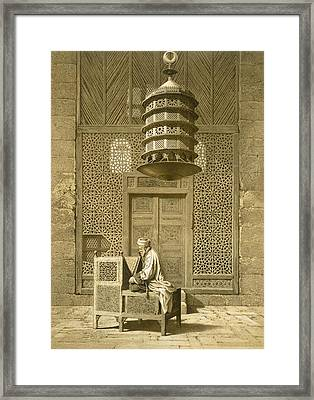 Cairo Funerary Or Sepuchral Mosque Framed Print by Emile Prisse d'Avennes