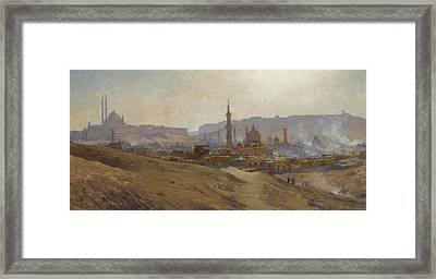Cairo Mist Dust And Fumes Evening Framed Print by Etienne Dinet