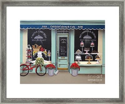 Caitlin's Cakery And Cafe Framed Print by Catherine Holman