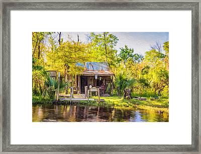 Cajun Cabin - Paint Framed Print by Steve Harrington