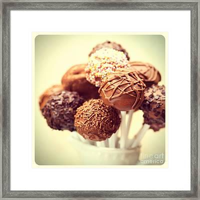 Cake Pops Retro Photo Framed Print by Jane Rix