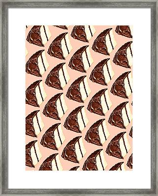 Cake Slice Pattern Framed Print by Kelly Gilleran
