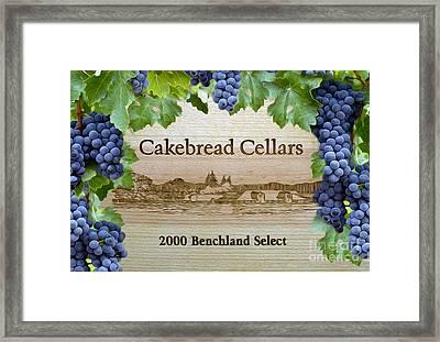 Cakebread Cellars Framed Print by Jon Neidert