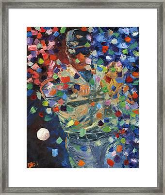 Cal Ripken Jr Framed Print by Ash Hussein