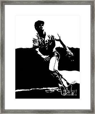 Cal Ripken Jr. Drawing Framed Print by Rob Monte