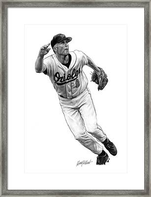 Cal Ripken Jr I Framed Print by Harry West
