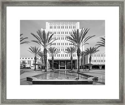 Cal State University Fullerton Langsdorf Hall Framed Print by University Icons