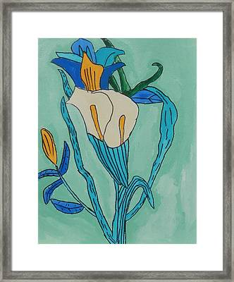 Cala Lilly Blue Framed Print by Brandon Drucker