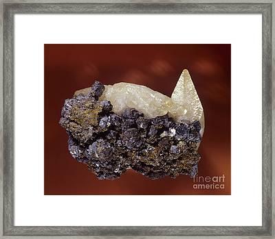 Calcite Crystal Framed Print by Hermann Eisenbeiss