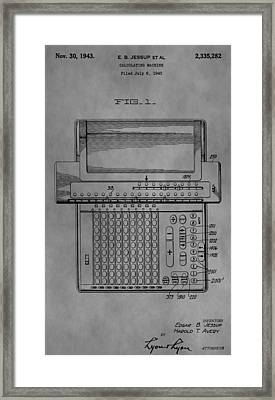 Calculating Machine Framed Print by Dan Sproul