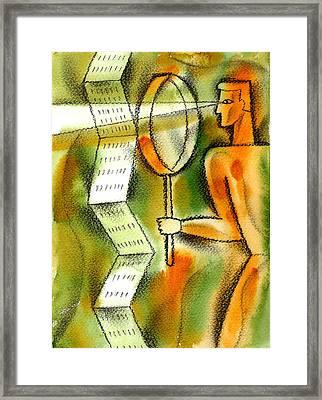 Calculation Framed Print by Leon Zernitsky