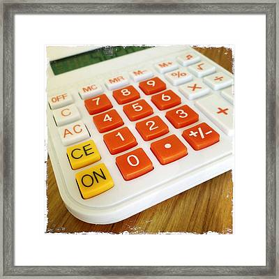Calculator Framed Print by Les Cunliffe