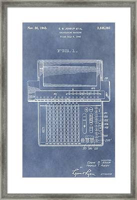 Calculator Patent Framed Print by Dan Sproul