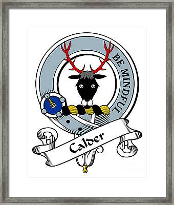 Calder Clan Badge Framed Print by Heraldry