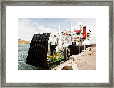 Caledonian Macbrayne Ferry Framed Print by Ashley Cooper