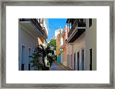 Caleta De Las Monjas Framed Print by Ricardo J Ruiz de Porras
