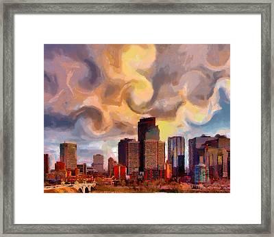 Calgaryskyline Framed Print by Anthony Caruso