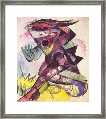 Caliban From The Tempest By William Shakespeare 1914 Framed Print by Franz Marc
