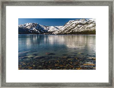 Calico Ice Framed Print by Mitch Shindelbower