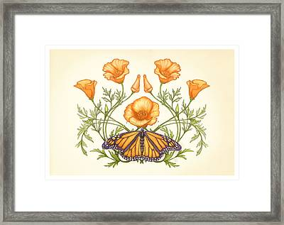 California Dream Ivory Edition Framed Print by Catherine Noel