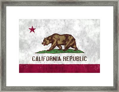 California Flag Framed Print by World Art Prints And Designs