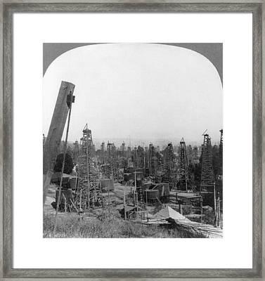 California Oil Fields Framed Print by Granger