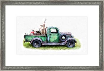 California Or Bust II Framed Print by Edward Fielding