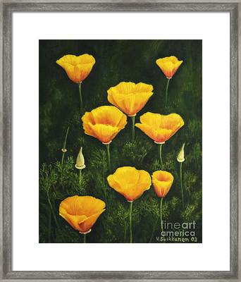 California Poppy Framed Print by Veikko Suikkanen