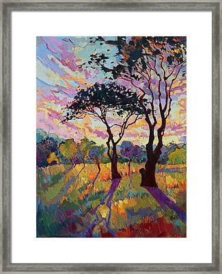 California Sky Quadtych - Lower Left Panel Framed Print by Erin Hanson