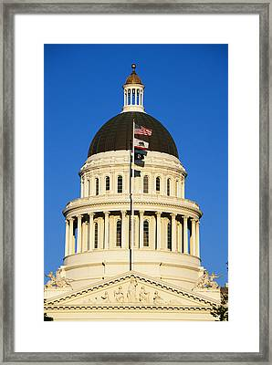 California State Capitol Building Framed Print by Panoramic Images
