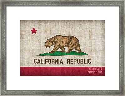 California State Flag Framed Print by Pixel Chimp