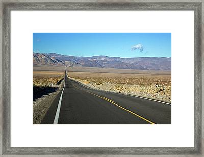 California State Highway Framed Print by Jim West